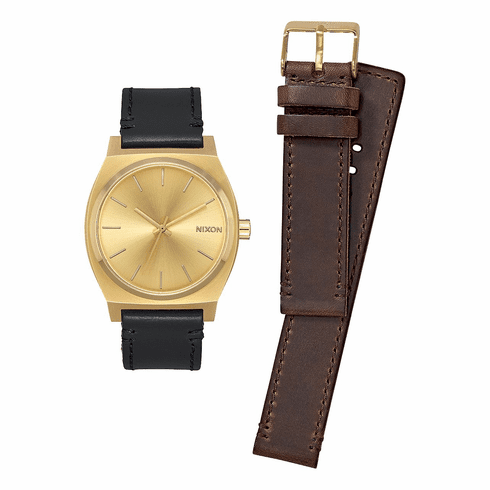 (SALE!!!) Nixon Time Teller Watch Pack<br>All Gold/Black/Brown