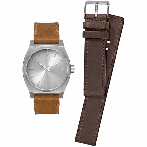 (SALE!!!) Nixon Time Teller Watch Pack<br>All Silver/Brown/Tan