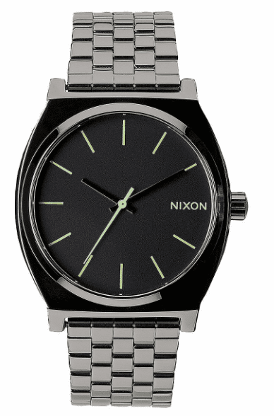 (SALE!!!) Nixon Time Teller Watch<br>Polished Gunmetal/Lum
