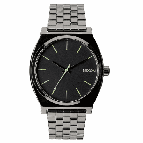 Nixon Time Teller Watch<br>Polished Gunmetal/Lum