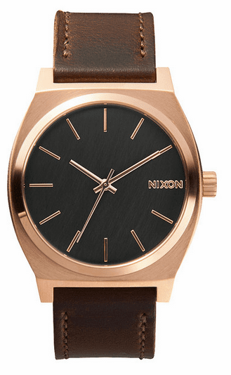 Nixon Time Teller Watch<br>Rose Gold/Gunmetal/Brown