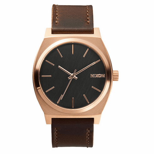 (SALE!!!) Nixon Time Teller Watch<br>Rose Gold/Gunmetal/Brown
