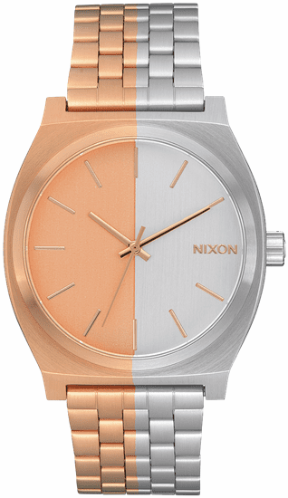 (SALE!!!) Nixon Time Teller Watch<br>Rose Gold/Split