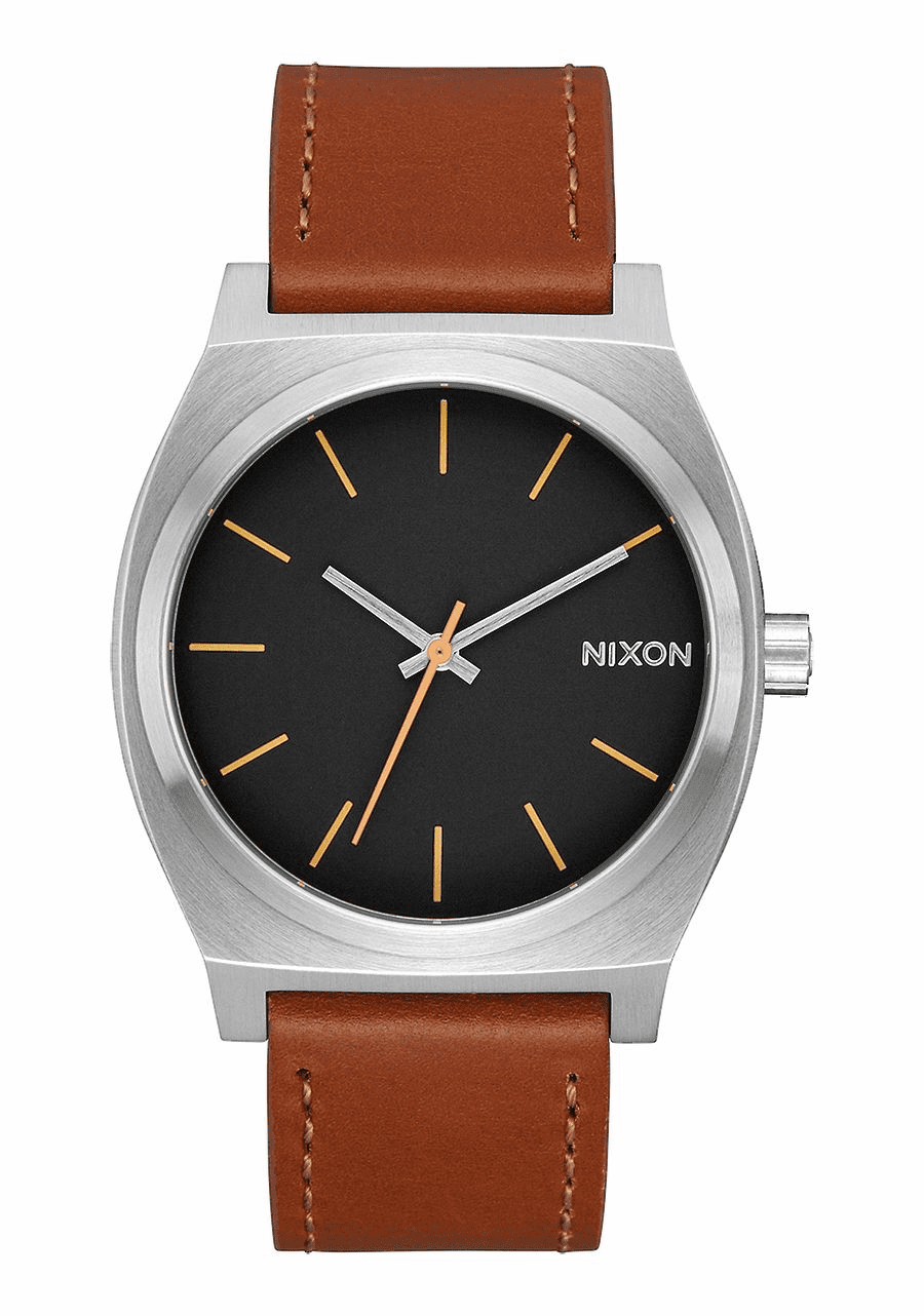 Nixon Time Teller Watch<br>Silver/Black/Brown
