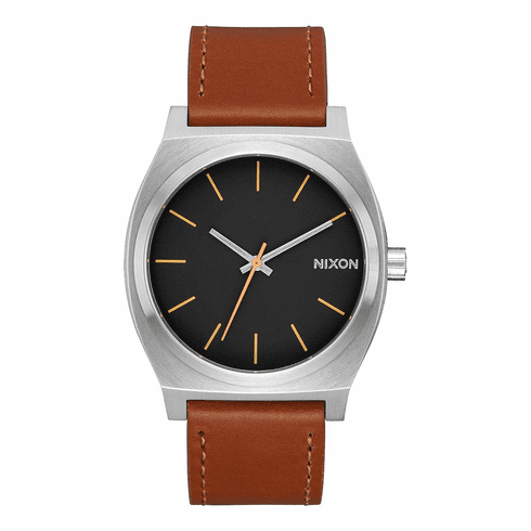 (SALE!!!) Nixon Time Teller Watch<br>Silver/Black/Brown