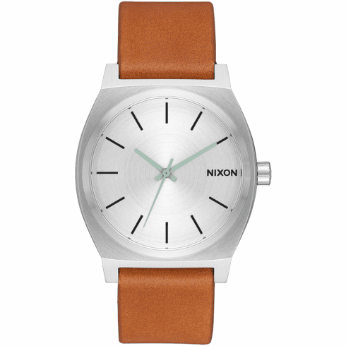 Nixon Time Teller Watch<br>Silver/Tan