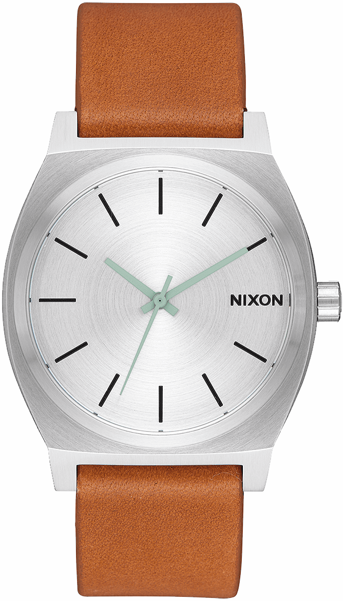 (SALE!!!) Nixon Time Teller Watch<br>Silver/Tan