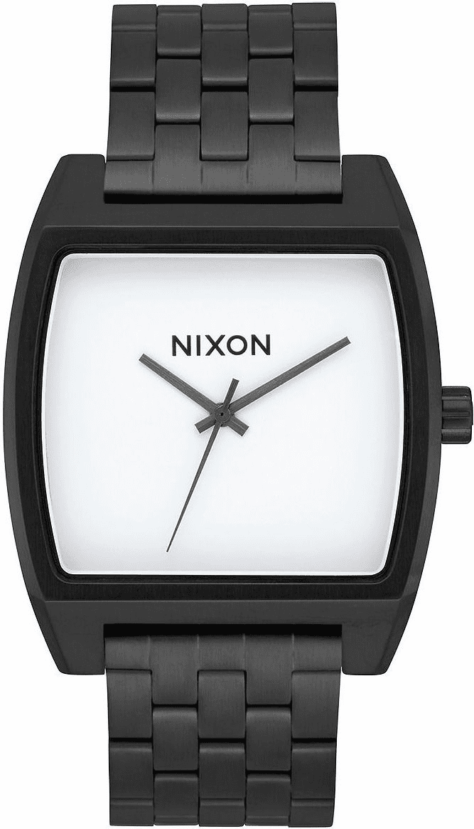 Nixon Time Tracker Watch<br>Black/White