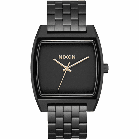 (SALE!!!) Nixon Time Tracker Watch<br>Matte Black/Gold