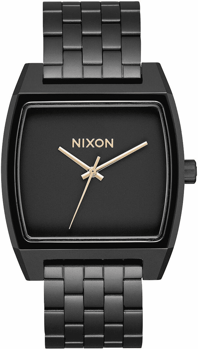 Nixon Time Tracker Watch<br>Matte Black/Gold