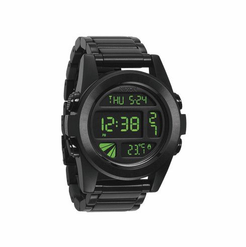 Nixon Unit SS Watch<br>All Black/Green