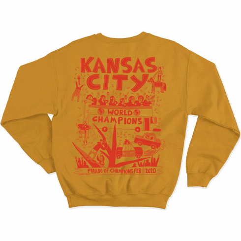Yellow Parade Party Crewneck Sweatshirt