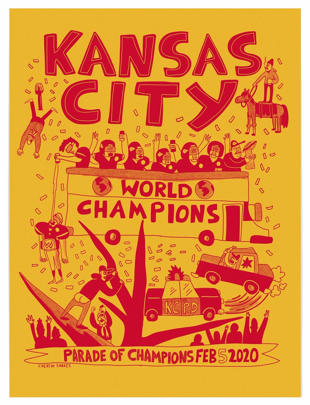 Yellow Parade Party Print