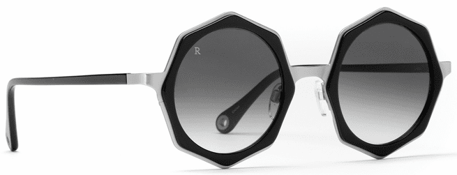Raen Luci Sunglasses<br>Black & Silver/Smoke Gradient