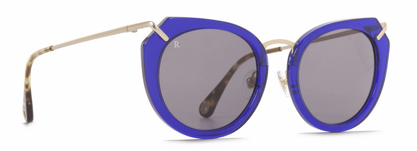 Raen Pogue Sunglasses<br>Blue Crystal w/Brindle Tortoise/Smoke