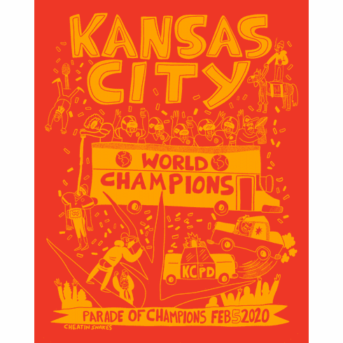 Red Parade Party Print