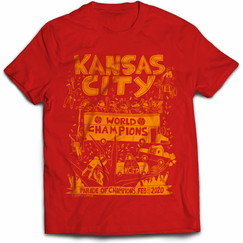 Red Parade Party Tee