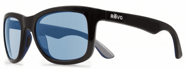 Revo Huddie Sunglasses<br>Matte Black/Blue Water Polarized