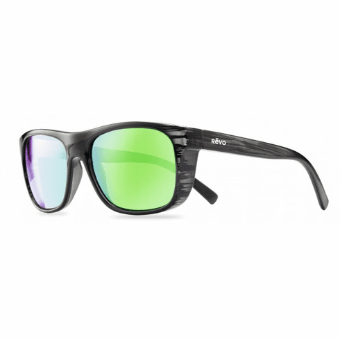 Revo Luckee Sunglasses<br>Black Woodgrain/Green Water Polarized