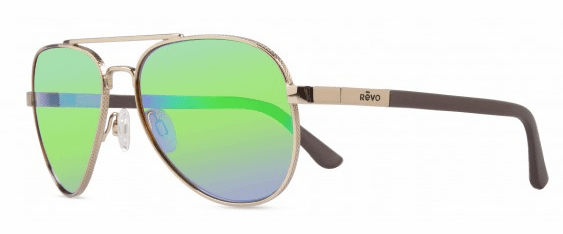 Revo Raconteur Sunglasses<br>Gold/Green Water Polarized