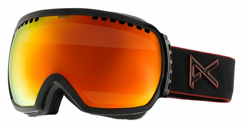 (Sale!!!) Anon Optic Comrade Snow Goggles<br>Black Emblem/Red Solex