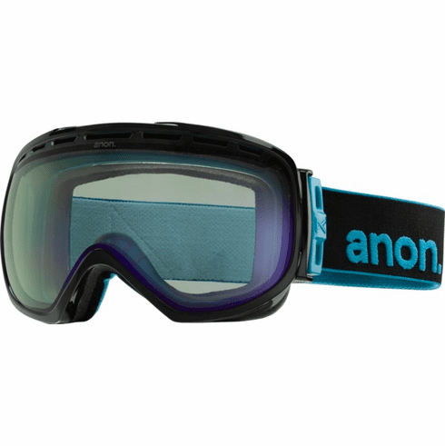 (Sale!!!) Anon Optic Insurgent Snow Goggles<br>Black/Blue Lagoon