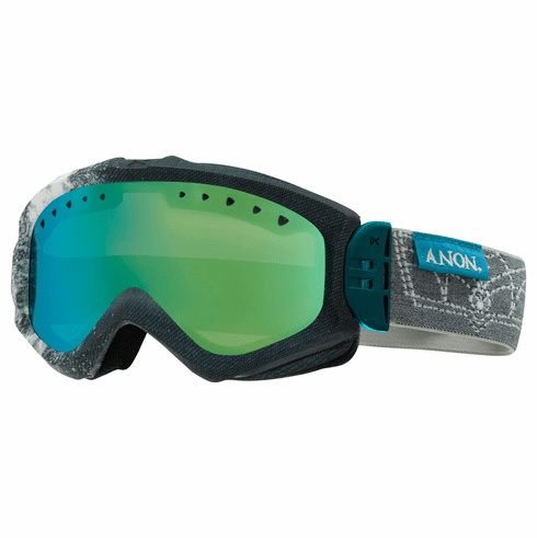 (Sale!!!) Anon Optic Majestic Snow Goggles<br>Bleach/Green Solex