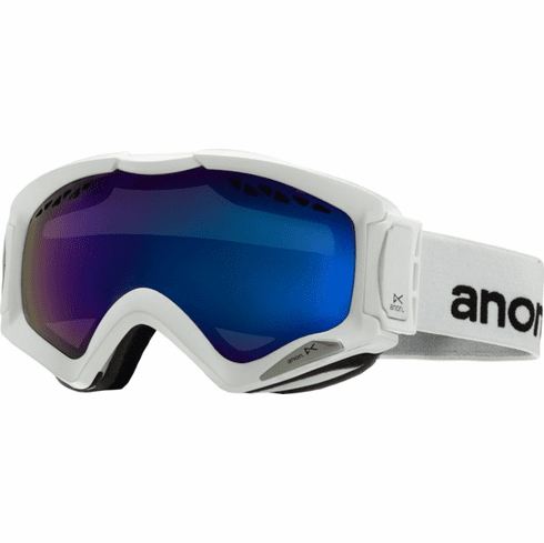 (Sale!!!) Anon Optic Realm Snow Goggles<br>White/Blue Solex