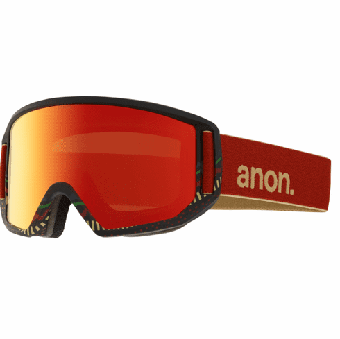 (Sale!!!) Anon Optic Relapse Snow Goggles<br>Aztec/Red Solex + Amber