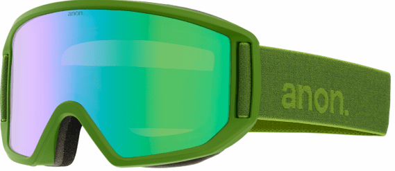 (Sale!!!) Anon Optic Relapse Snow Goggles<br>Grasshole/Green Solex + Amber