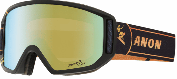 (Sale!!!) Anon Optic Relapse Snow Goggles<br>Merrill Pro/Gold Chrome