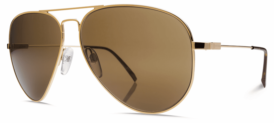 (SALE!!!) Electric AV.1 Sunglasses<br>Gold/Melanin Bronze Polarized<br>Level I<br>Size: Large
