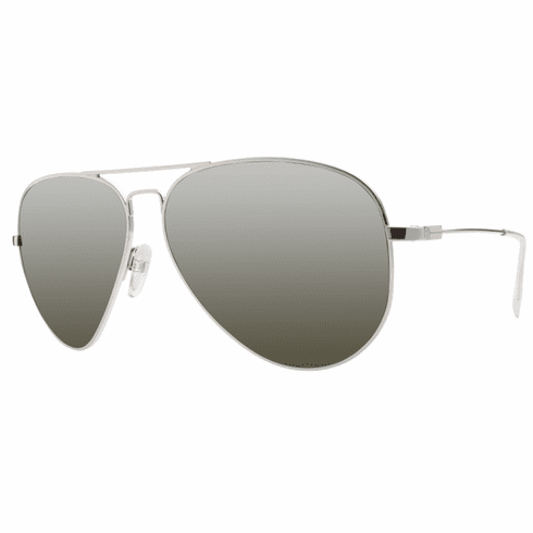 (SALE!!!) Electric AV.1 Sunglasses<br>Platinum/Melanin Grey-Silver Chrome<br>Size: Large