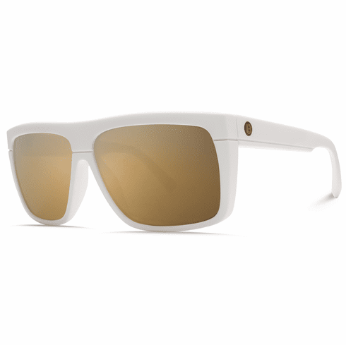 (Sale!!!) Electric Black Top Sunglasses<br>Matte White/OHM Grey Gold Chrome