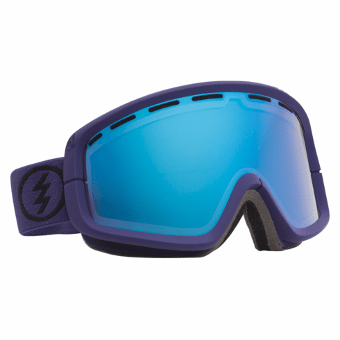 (Sale!!!) Electric Visual EGB2 Snow Goggles<br>Dark Night/Grey-Blue Chrome<br>+ Yellow Lens