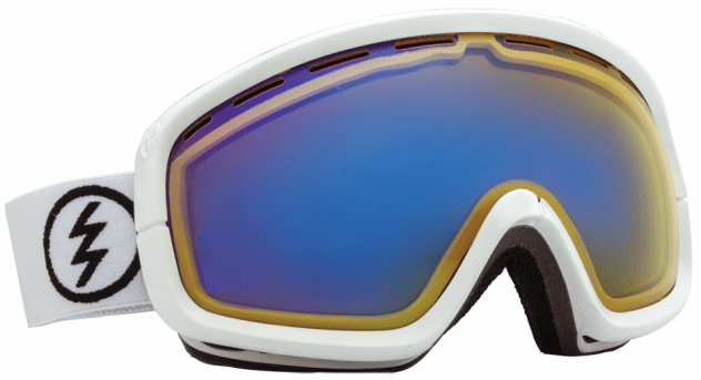 (Sale!!!) Electric Visual EGB2s Snow Goggles<br>Gloss White/Yellow-Blue Chrome