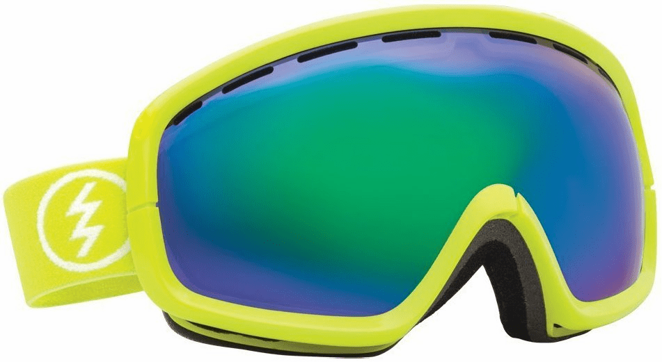 (Sale!!!) Electric Visual EGB2s Snow Goggles<br>Toxic Snot/Grey Green Chrome