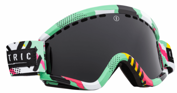 (Sale!!!) Electric Visual EGV Snow Goggles<br>New Wave/Jet Black<br>+ Light Green Lens