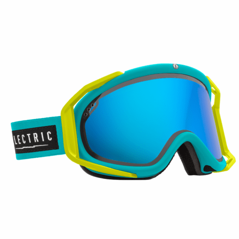 (Sale!!!) Electric Visual Rig Snow Goggles<br>Beach/Bronze w/Blue Chrome<br>+ Light Green Lens