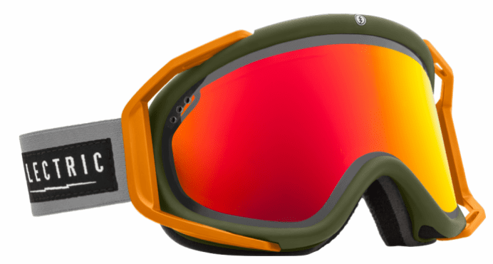 (Sale!!!) Electric Visual Rig Snow Goggles<br>Chopper/Bronze w/Red Chrome<br>+ Light Green Lens