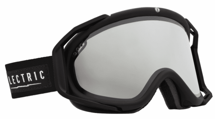 (Sale!!!) Electric Visual Rig Snow Goggles<br>Gloss Black/Bronze w/Silver Chrome<br>+ Light Green Lens