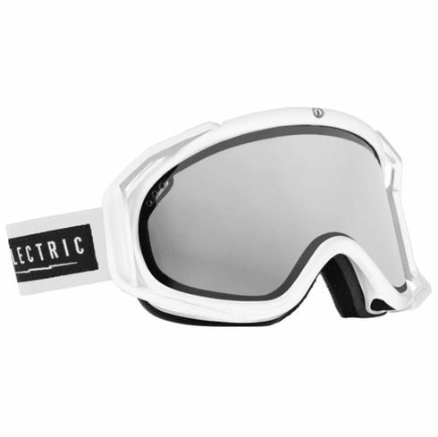 (Sale!!!) Electric Visual Rig Snow Goggles<br>Gloss White/Bronze w/Silver Chrome<br>+ Light Green Lens