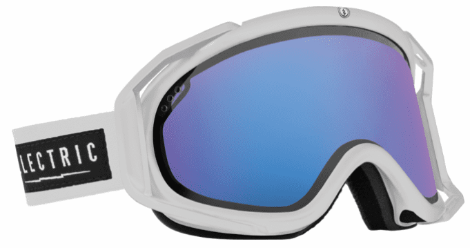 (Sale!!!) Electric Visual Rig Snow Goggles<br>White Tropic/Rose w/Blue Chrome<br>+ Light Green Lens