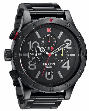 (Sale!!!) Nixon 48-20 Chrono Watch<br>All Black/Multi