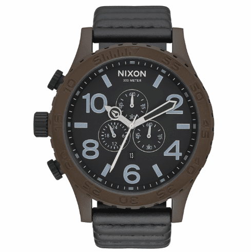 (Sale!!!) Nixon 51-30 Chrono Leather Watch<br>Bronze/Black