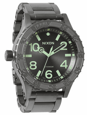 (SALE!!!) Nixon 51-30 TI Watch<br>All Gunmetal/Lum