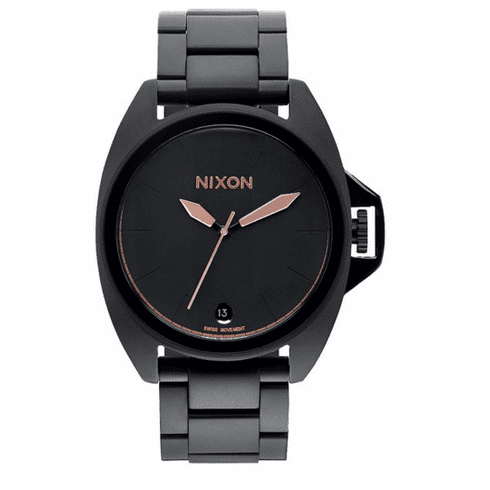 (Sale!!!) Nixon Anthem Watch<br>All Black/Rose Gold