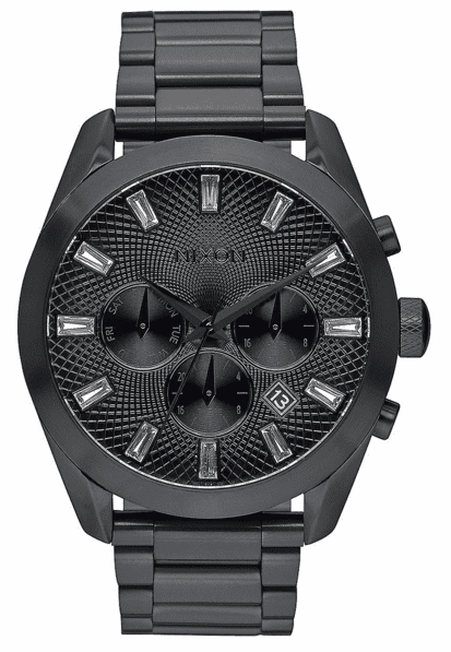 (Sale!!!) Nixon Bullet Chrono Crystal Watch<br>All Black