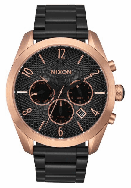 (Sale!!!) Nixon Bullet Chrono Watch<br>Black/Rose/Black