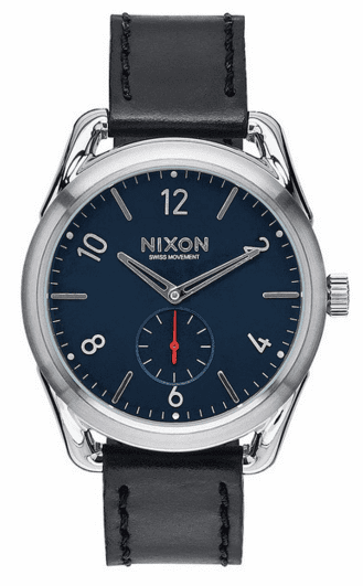 (Sale!!!) Nixon C39 Leather Watch<br>Black/Red